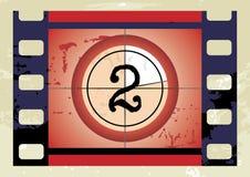 Conto alla rovescia della pellicola (vettore) Fotografie Stock Libere da Diritti