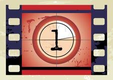 Conto alla rovescia della pellicola (vettore) Immagini Stock Libere da Diritti