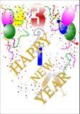 Conto alla rovescia di nuovo anno felice Immagine Stock Libera da Diritti