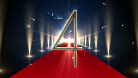 Conto alla rovescia a 2015 su tappeto rosso royalty illustrazione gratis