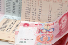 Conto bancario e RMB Fotografie Stock Libere da Diritti