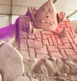 Conto de fadas da escultura da areia imagens de stock royalty free