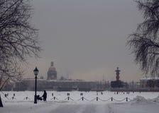 Conto de fadas do inverno em St Petersburg fotografia de stock
