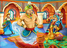 Conto de fadas dos desenhos animados - ilustração para as crianças Imagens de Stock Royalty Free