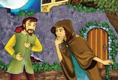 Conto de fadas dos desenhos animados - ilustração para as crianças Fotos de Stock Royalty Free