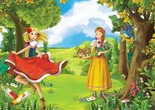 Conto de fadas dos desenhos animados - ilustração para as crianças Fotografia de Stock Royalty Free
