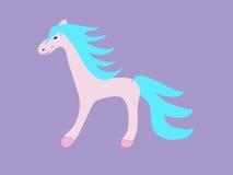 Conto de fadas engraçado das crianças do cavalo cor-de-rosa Foto de Stock