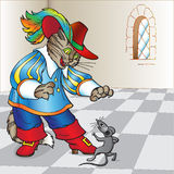 Conto de fadas o gato nos carregadores Fotografia de Stock Royalty Free