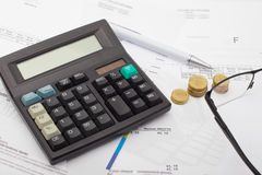 Conto finanziario - affare fotografia stock libera da diritti