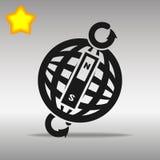 Contornee el concepto negro del símbolo del logotipo del botón de la estafa de alta calidad Foto de archivo