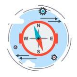 Contornee la muestra, icono de la guía, concepto de la opción de la estrategia ilustración del vector