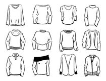 Contorni dei maglioni delle donne Fotografia Stock