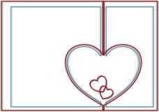 Contorni del fondo dei cuori del biglietto di S. Valentino Fotografie Stock