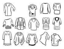 Contorni delle tuniche Fotografia Stock