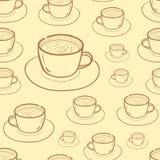 Contorni senza cuciture di caffè illustrazione vettoriale
