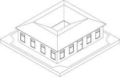 Contorno da casa isométrica Imagem de Stock Royalty Free