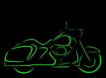 Contorno da opinião lateral da motocicleta Fotografia de Stock