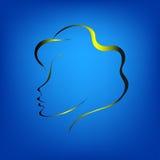 Contorno de la cara de una mujer ilustración del vector