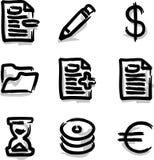Contorno de la etiqueta de plástico de los iconos del Web del vector vario Fotografía de archivo libre de regalías