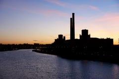 Contorno de la zona industrial Fotografía de archivo