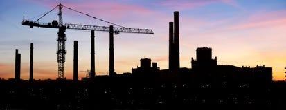 Contorno de la zona industrial Foto de archivo libre de regalías