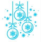 Contorno de las bolas de la Navidad Fotografía de archivo libre de regalías