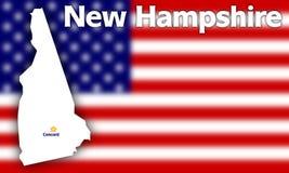 Contorno de New-Hampshire do estado Foto de Stock