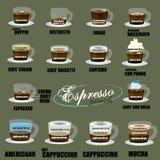 Contorno del caffè espresso Fotografie Stock Libere da Diritti