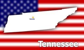 Contorno del estado de Tennessee Imagen de archivo libre de regalías