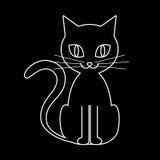 Contorno del gato Imagenes de archivo