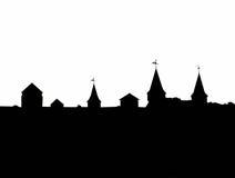 Contorno del castello Immagini Stock