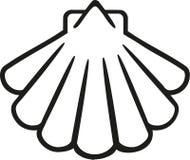 Contorno do ícone de Shell ilustração royalty free