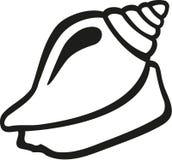 Contorno do caracol de Shell ilustração do vetor