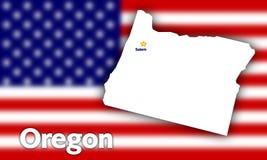 Contorno do estado de Oregon Fotografia de Stock