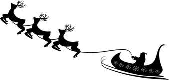 Contorno il Babbo Natale nel vettore Fotografia Stock Libera da Diritti