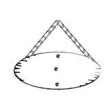 contorno monocromático del tablero de madera oval de la muestra con las cadenas Imagenes de archivo
