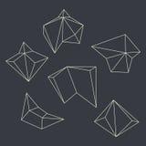 Contornos de figuras geométricas Fotografía de archivo libre de regalías