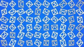 Contornos moventes do envelope no azul ilustração do vetor