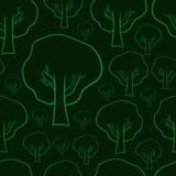 Contornos sem emenda das árvores Imagem de Stock