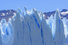 Contorted Ice on a Glacier. Contorted Ice on the Perito Moreno Glacier in Los Glaciares National Park in Argentina stock images