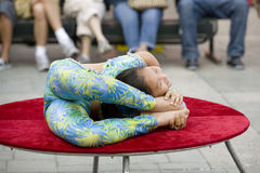 Contortionist 14. LOS ANGELES, SEPT 14:  Contortionist Enkhmurun, 11,  performing at the 2008 Moon Festival at the Los Angeles Chinatown Stock Image