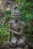 Contortionist hermit  statue. In wat pho ,Bangkok Thailand Stock Photography