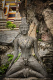 Contortionist hermit  statue. In wat pho ,Bangkok Thailand Stock Photo