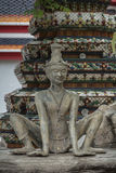 Contortionist hermit  statue. In wat pho ,Bangkok Thailand Stock Photos