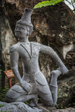 Contortionist hermit  statue. In wat pho ,Bangkok Thailand Royalty Free Stock Photo