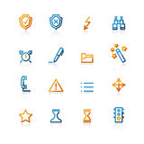Contour administration icons. Color contour administration icons on the white background Royalty Free Stock Image