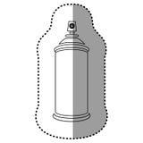 Contour aerosol sprays icon. Illustraction design Royalty Free Stock Images