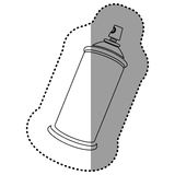Contour aerosol sprays icon. Illustraction design Stock Image