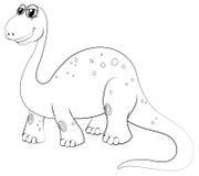 Contour animal pour le brachiosaurus Images stock