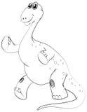 Contour animal pour le brachiosaurus Photo libre de droits